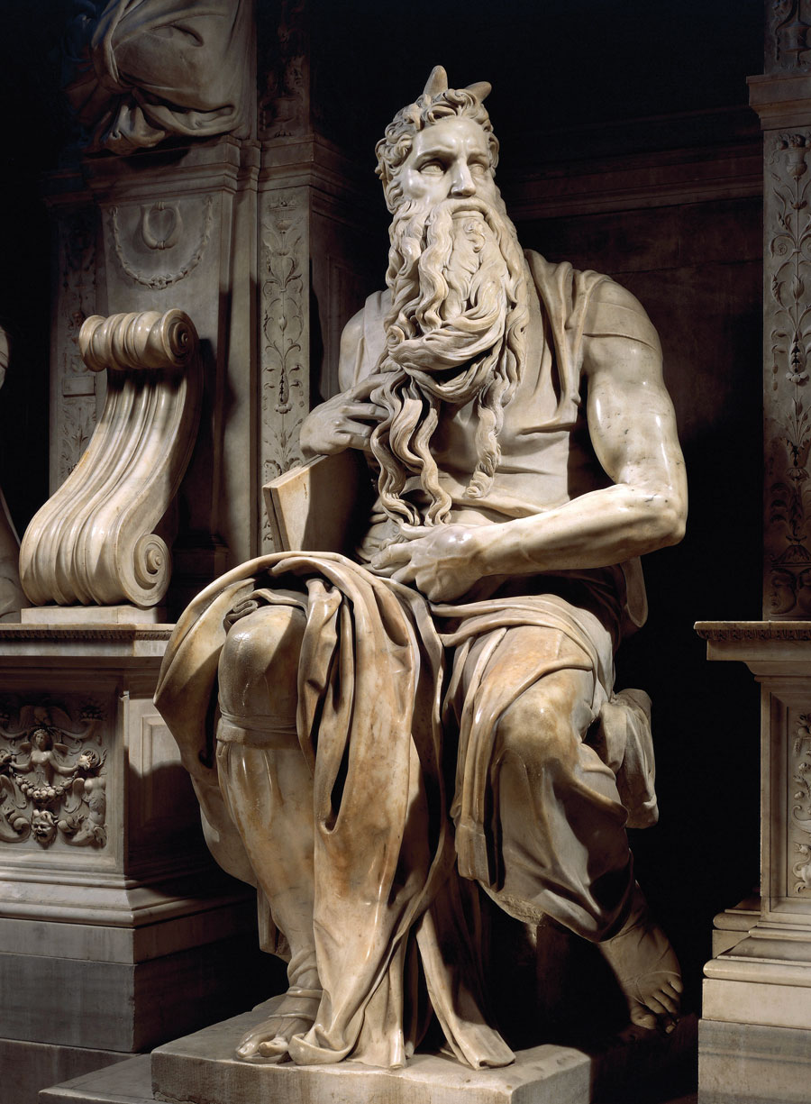 Why Moses portrayed with horns on his head
