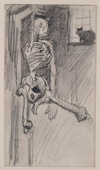 800px-Van_Gogh,_Hanging_Skeleton_and_Cat