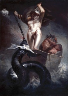 Fuseli, Henry; Thor battering the Midgard Serpent